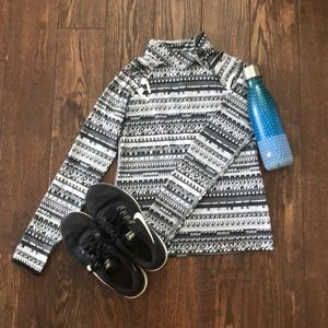 Black + White Nike Pro Pullover